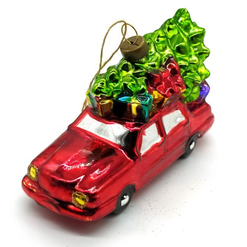 Raudonas automobilis